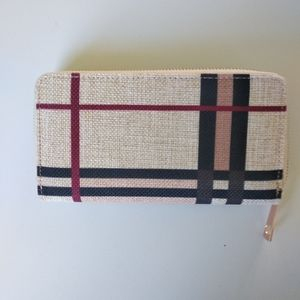 NEW canvas wallet with zipper